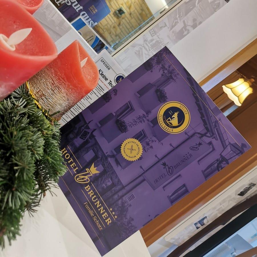 Stylish folder for gift vouchers of the Hotel Brunner Amberg