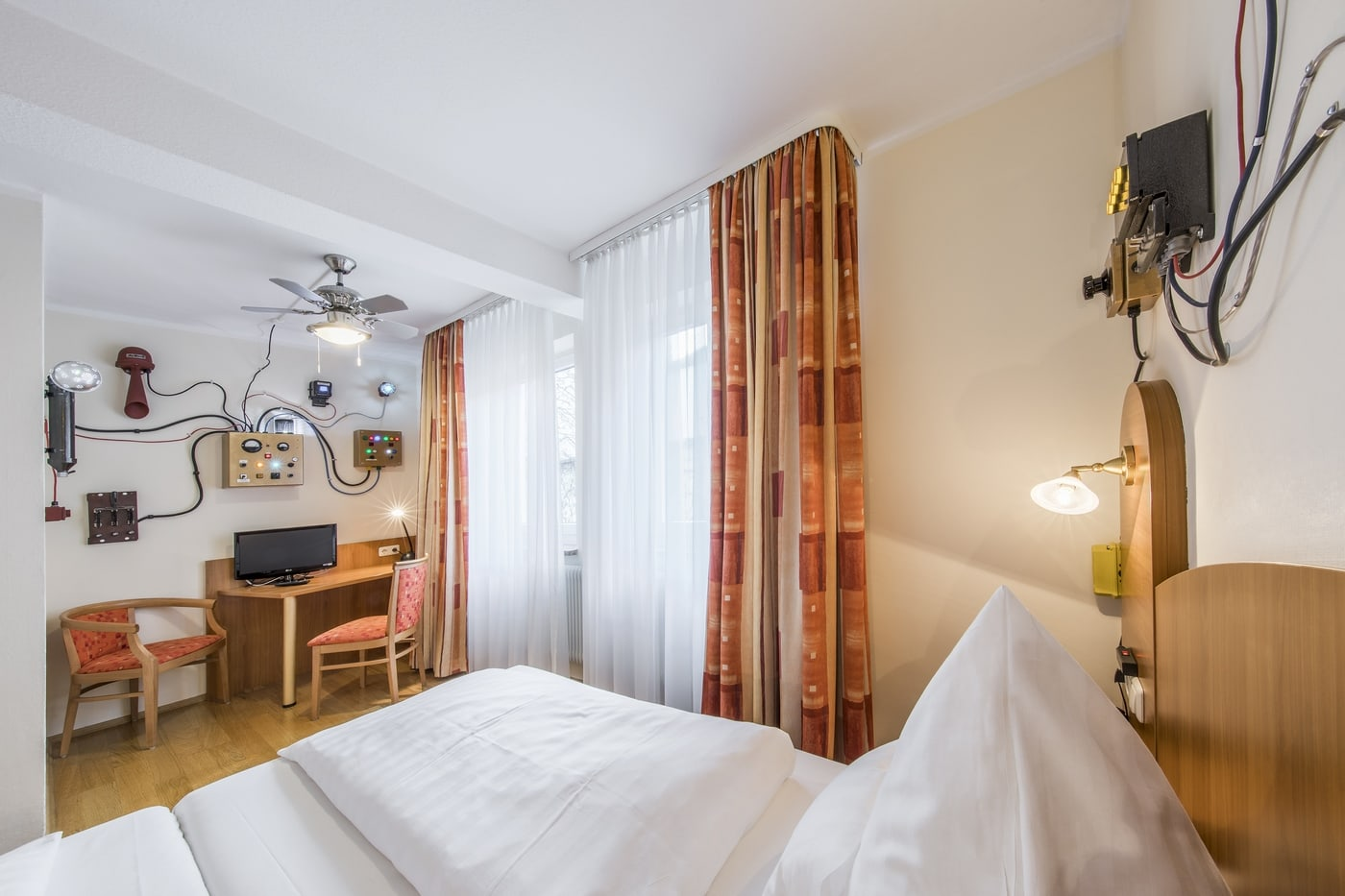 """This room in the Hotel Brunner is the """"Machine room"""", which was designed by Stefan Stock."""