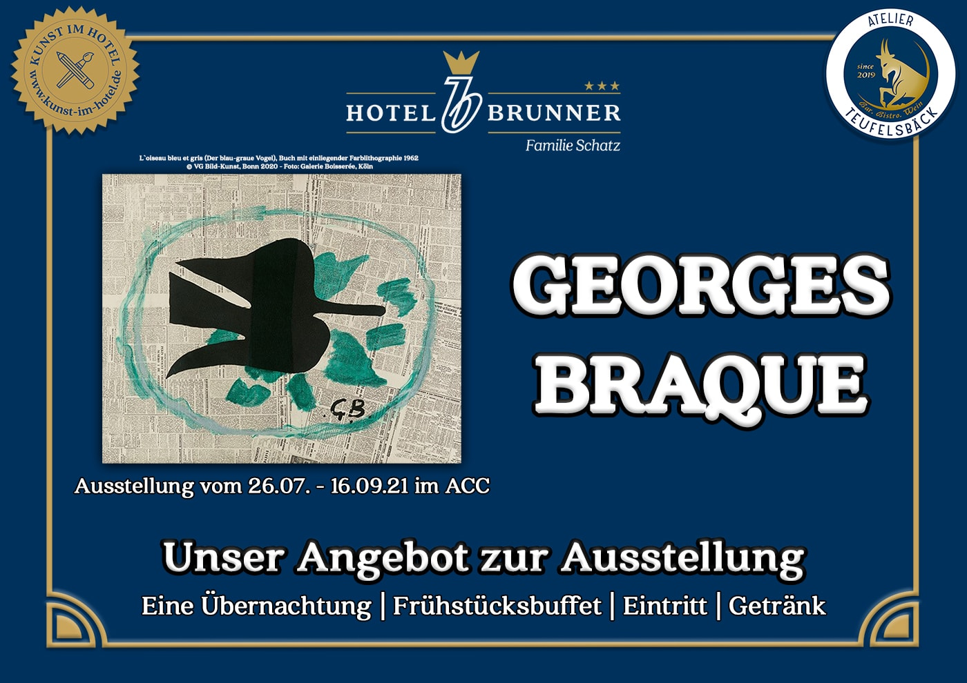 Teaser image of the offer for the exhibition of Georges Braque